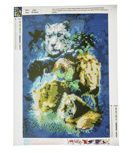 "DIY 5D Diamond Paint By Numbers Full Drill Tiger Lion Cross Stitch Arts Craft For Home Wall Decor Gift 11.8"" x 15.7"""
