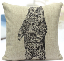 Couch Animal Designs Throw Pillow Covers 18X18 inches Durable High Quality Decorative Cushion Soft Cotton Linen Pillowcase for Sofa