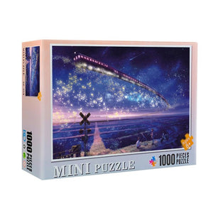 Moonlight Flying Train 1000 Pieces Jigsaw Puzzle