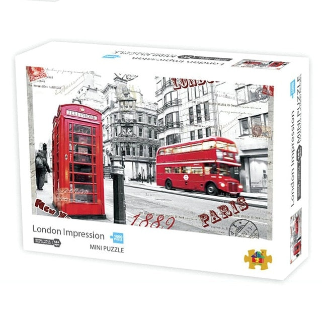 London Bus Jigsaw Puzzles 1000 pieces