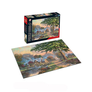 Waterfront Cottage Jigsaw Puzzle 1000 pieces