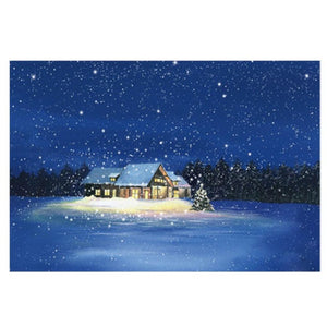 Snowing Forest Hut Jigsaw Puzzle 1000 pieces