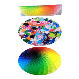 Blazing with Color Round Jigsaw Puzzle 1000 pieces