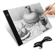 LED Light Pad For Sketching & Tracing Eco-Friendly Dimmable Light Board Kit, USB Powered Light Box 3-level Adjustable Brightness Portable A4 Tracing Board for Artists