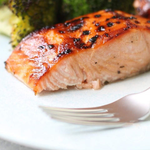 March 24: Miso & Maple Glazed Salmon (prepared meal for 2)
