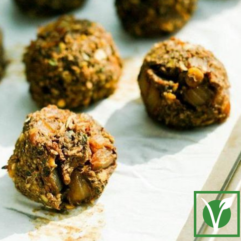 March 3: Lentil & Mushroom 'Meat'Balls (prepared meal for 2)