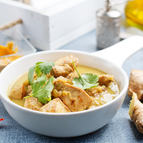 January 13: Thai Chicken Coconut Curry (prepared meal for 2)