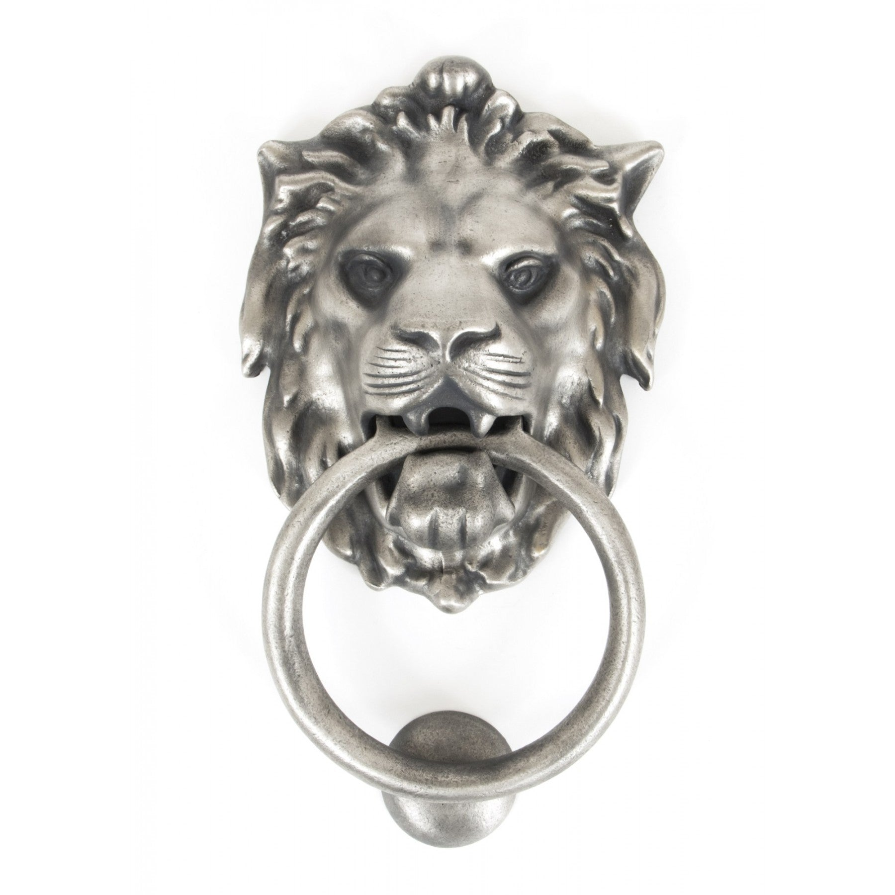 Lion's Head Door Knocker - Antique Pewter