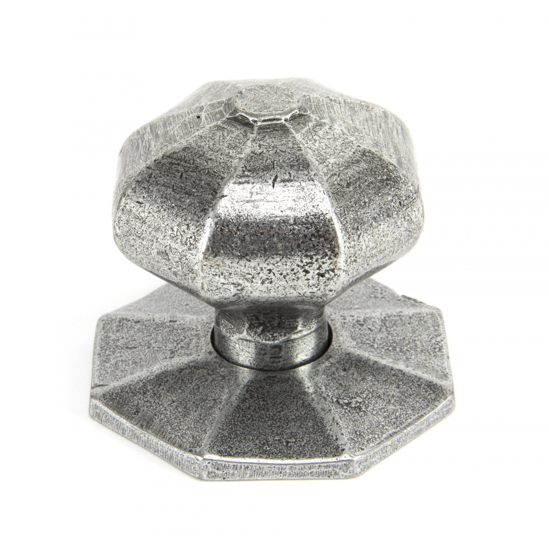From the Anvil Pewter Octagonal Mortice/Rim Knob Set - Large