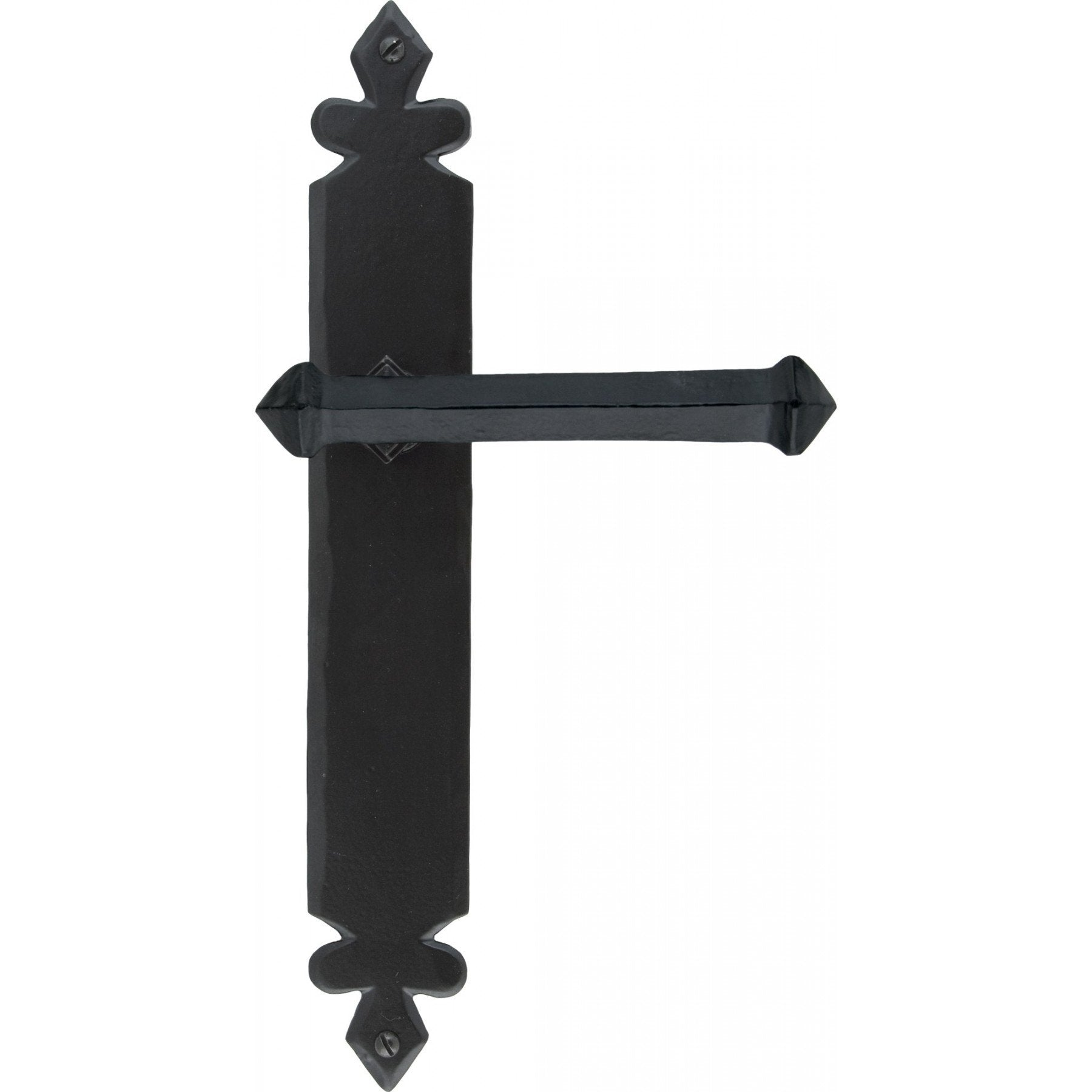 Black Tudor Lever Latch Set