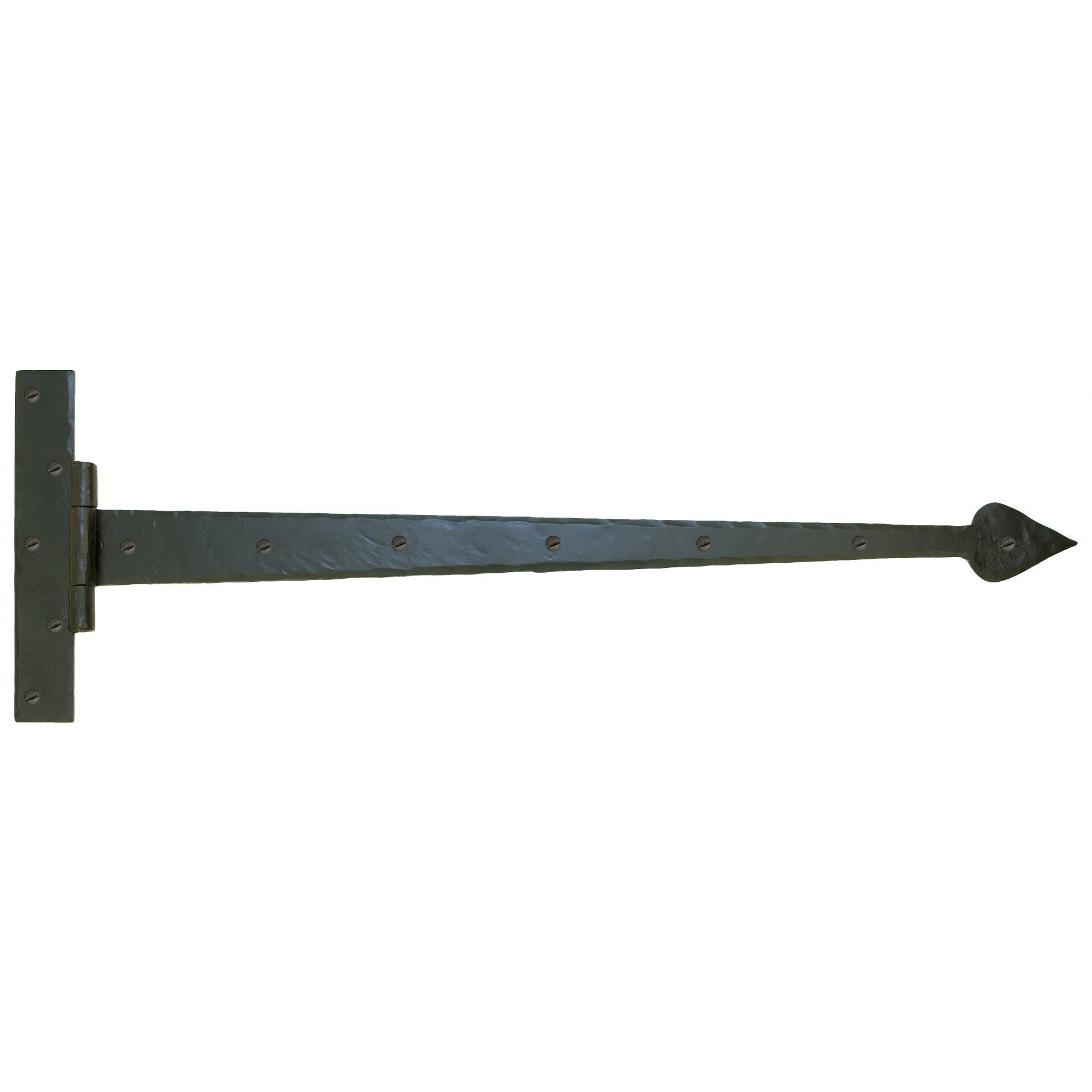 "Black 36"" Barn Door T Hinge (pair) - No.42 Interiors"