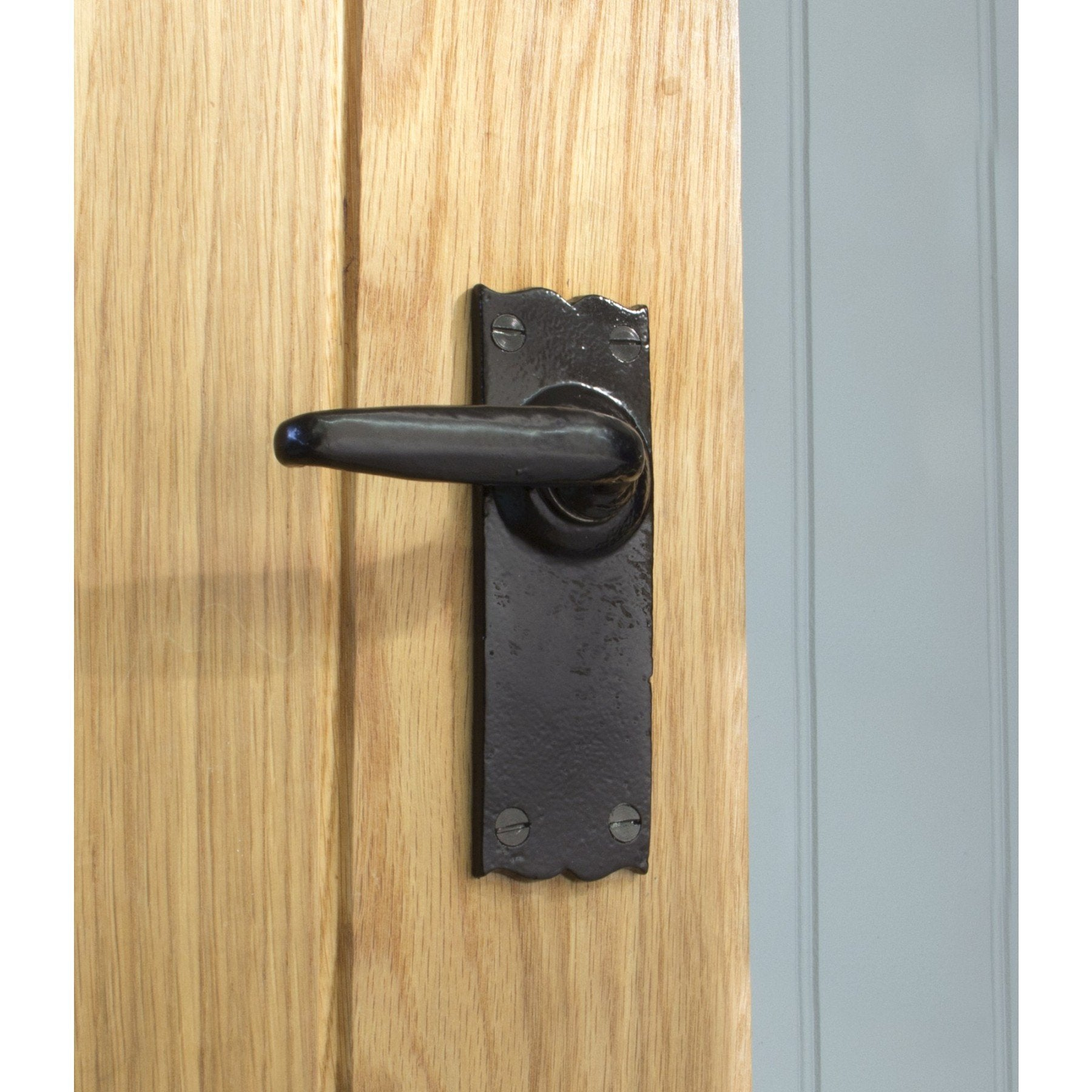 From the Anvil Black Oak Lever Latch Set