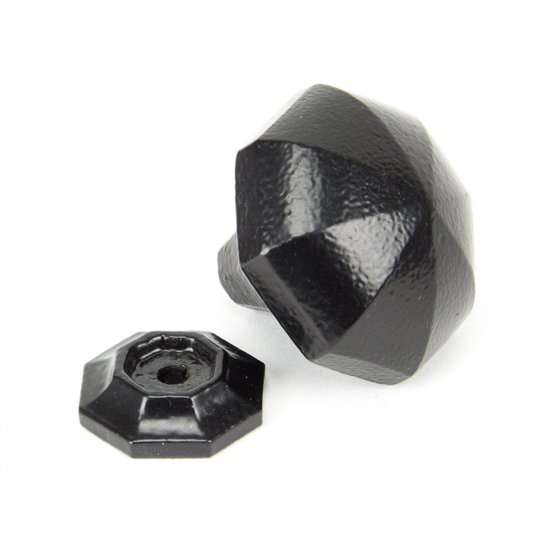 From the Anvil Black Octagonal Cabinet Knobs - Large