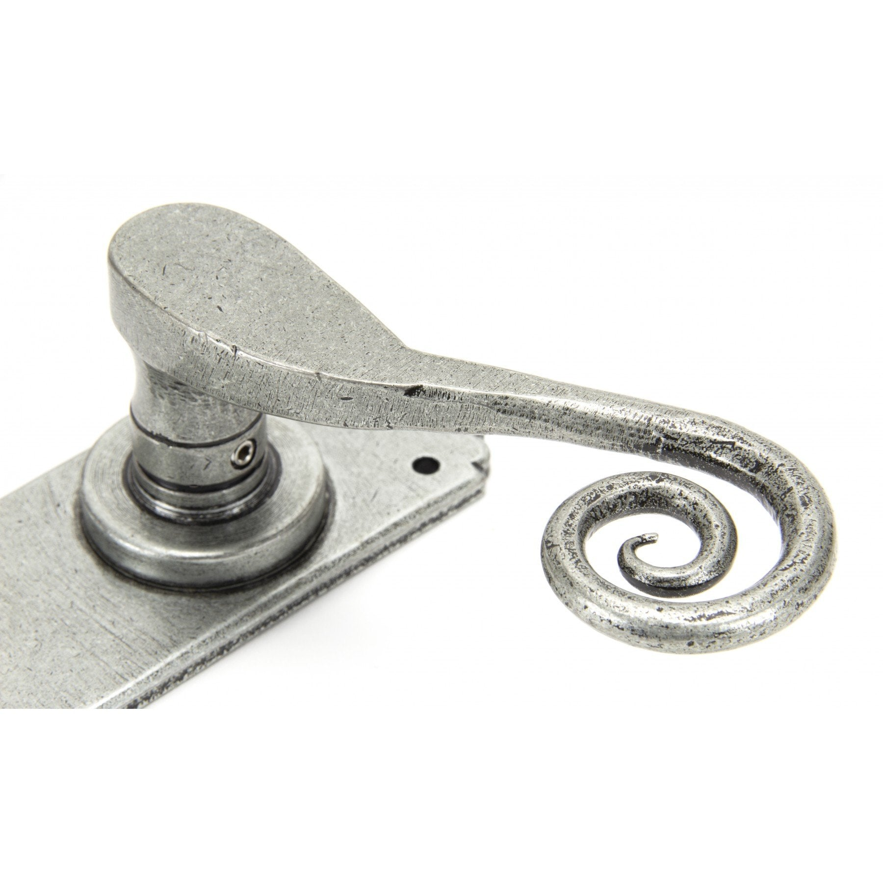Pewter Monkeytail Sprung Lever Bathroom Set