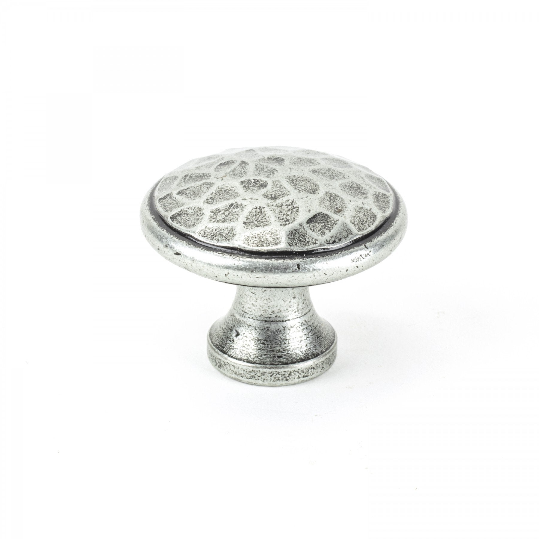 From the Anvil Pewter Beaten Cupboard Knob - Large
