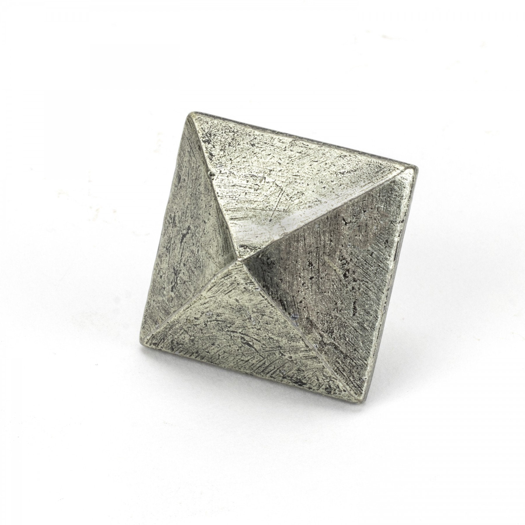 From the Anvil Pewter Pyramid Door Stud - Large
