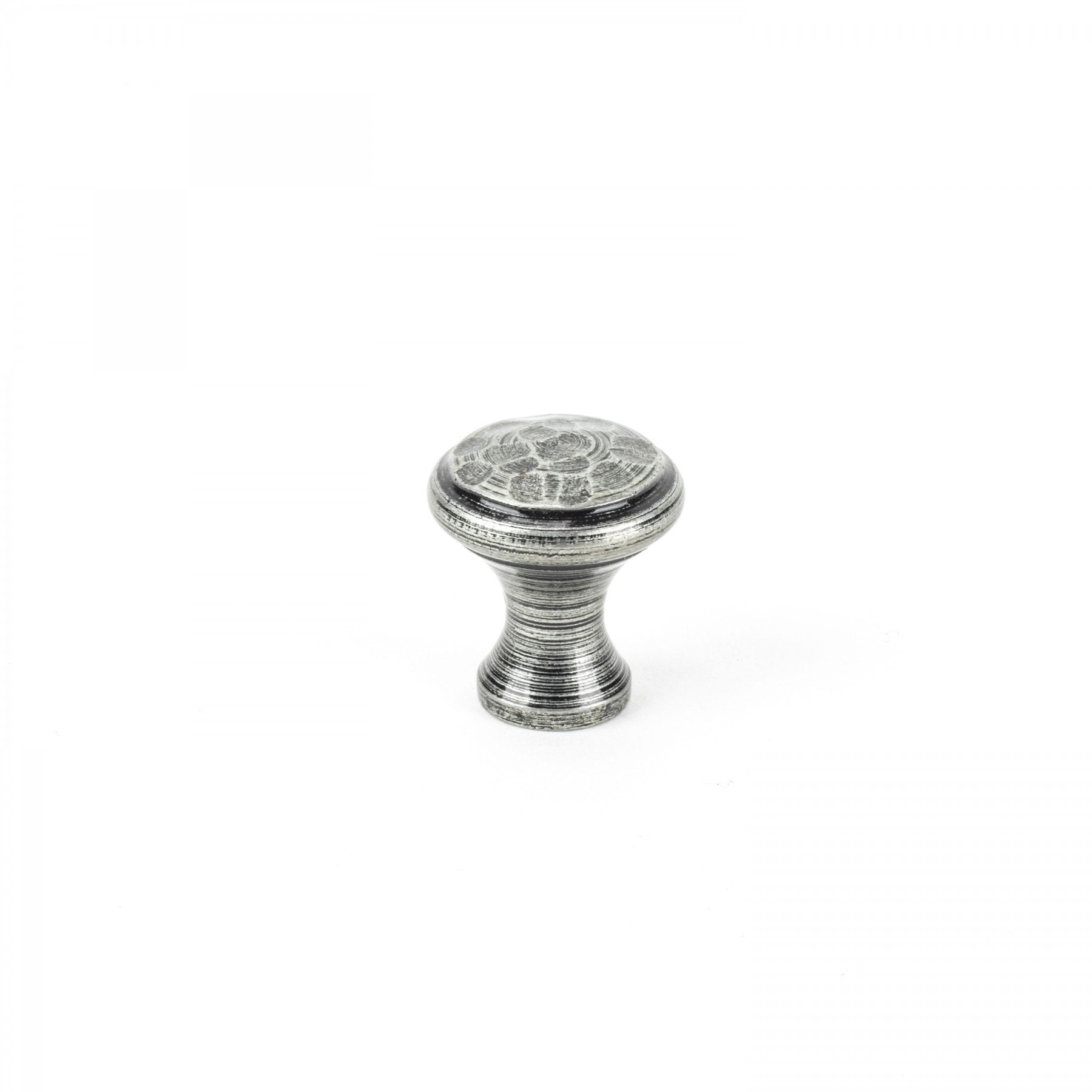 Pewter Beaten Cupboard Knob - Small