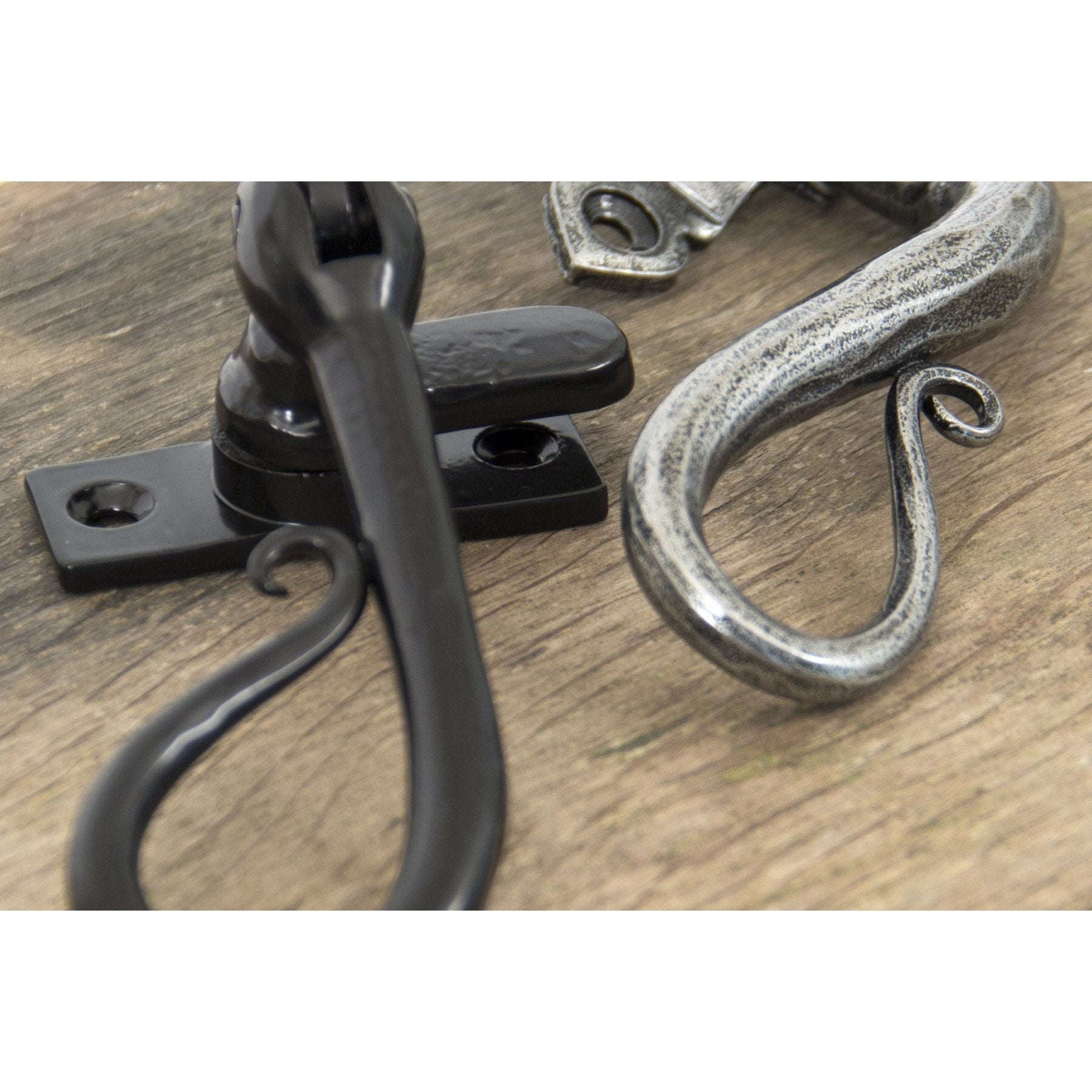 Pewter Shepherd's Crook Fastener LH - Locking