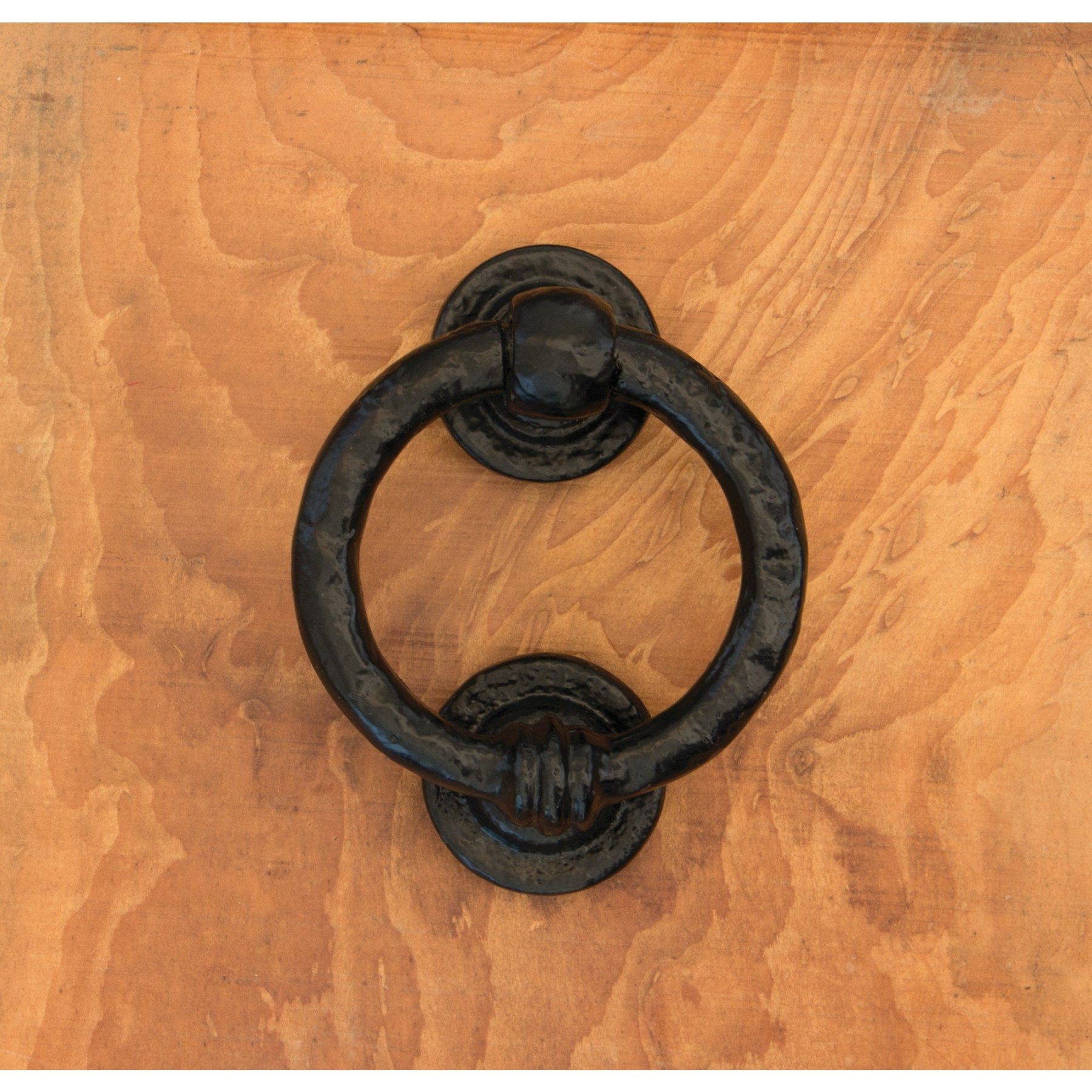 From the Anvil Black 4'' Ring Door Knocker