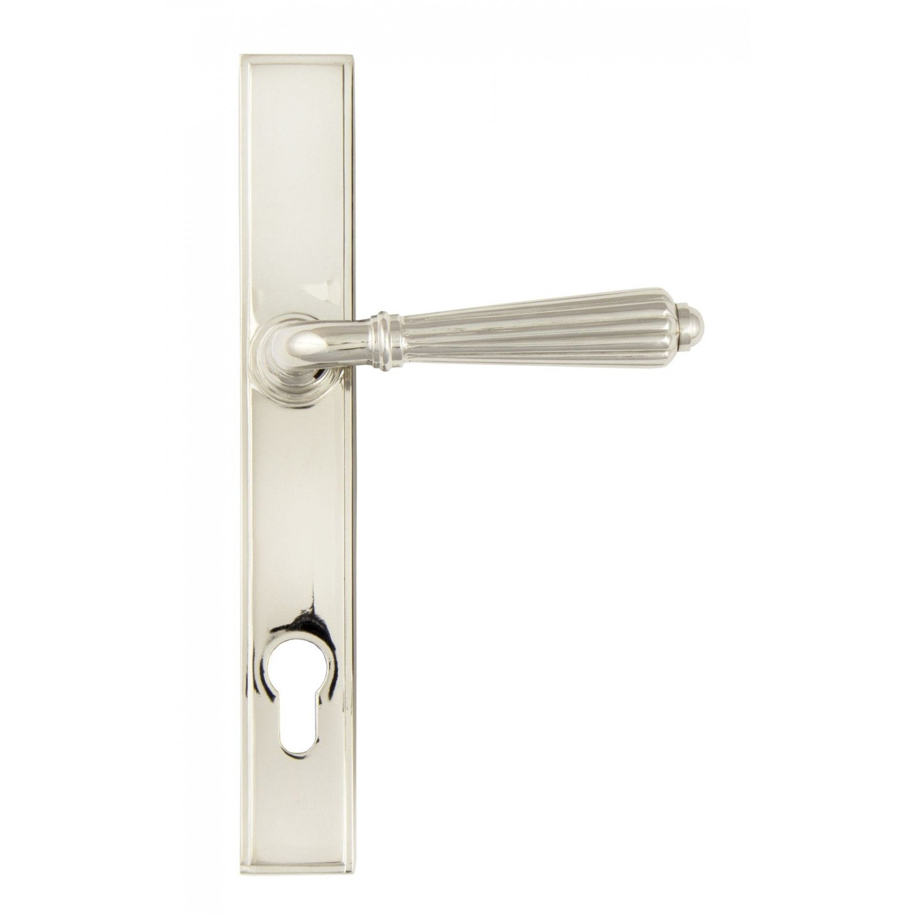 Polished Nickel Hinton Slimline Lever Espag. Lock Set - No.42 Interiors