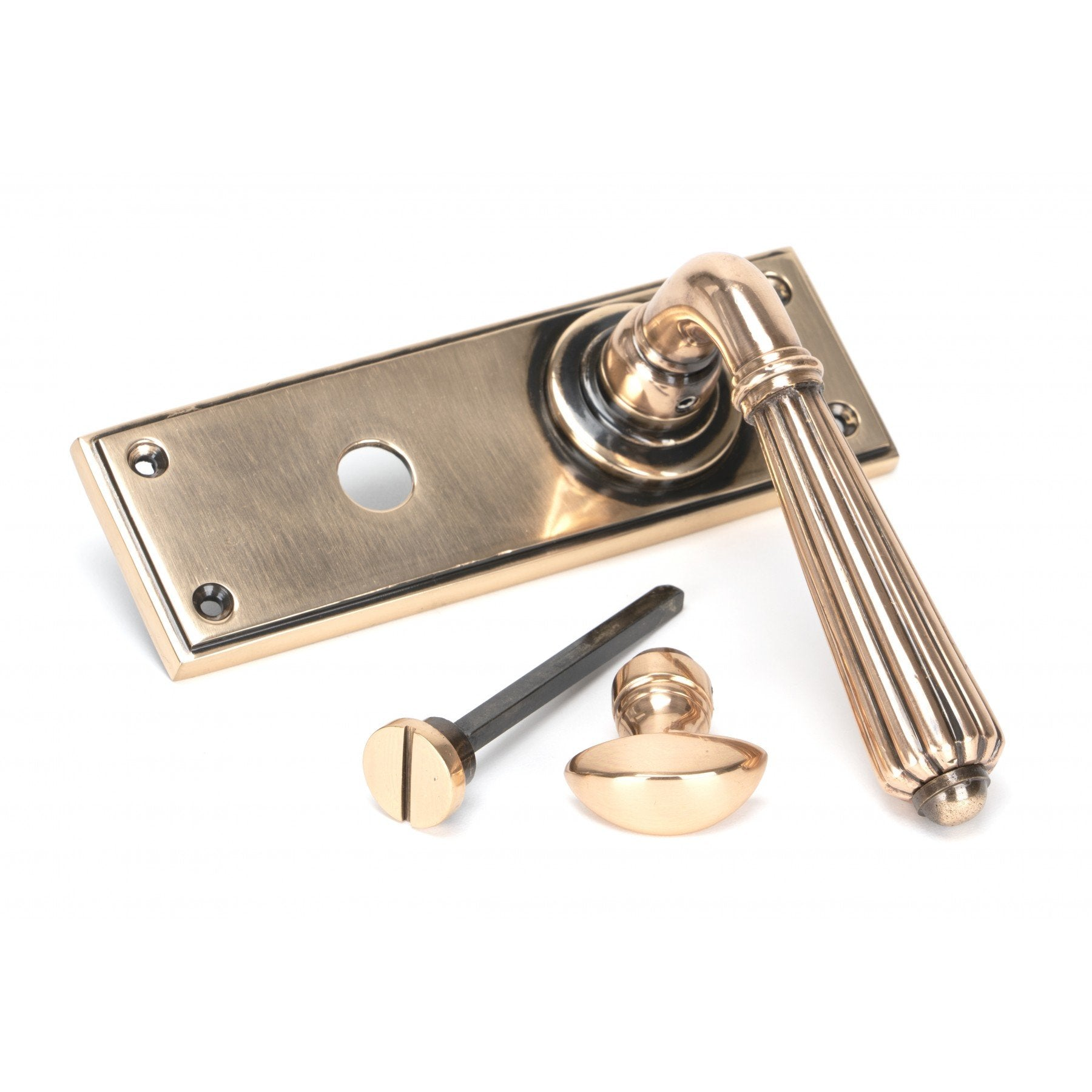 Polished Bronze Hinton Lever Bathroom Set