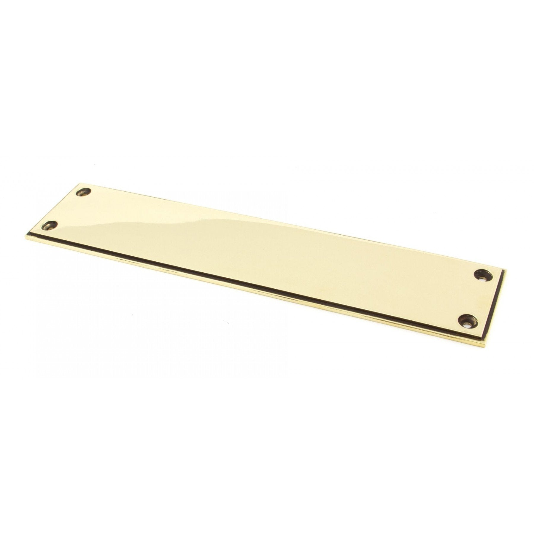 Aged Brass 300mm Art Deco Fingerplate - No.42 Interiors