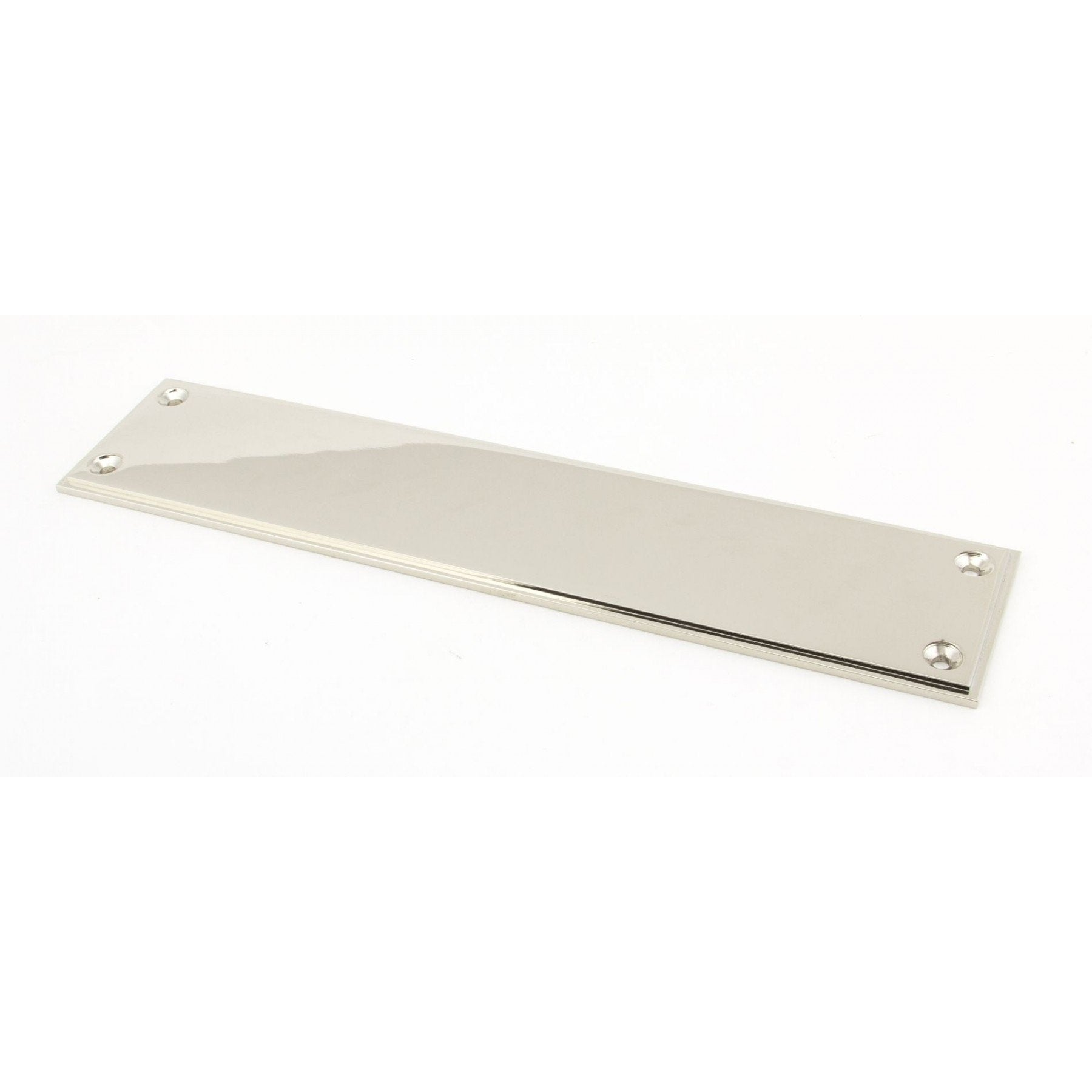 Polished Nickel 300mm Art Deco Fingerplate - No.42 Interiors