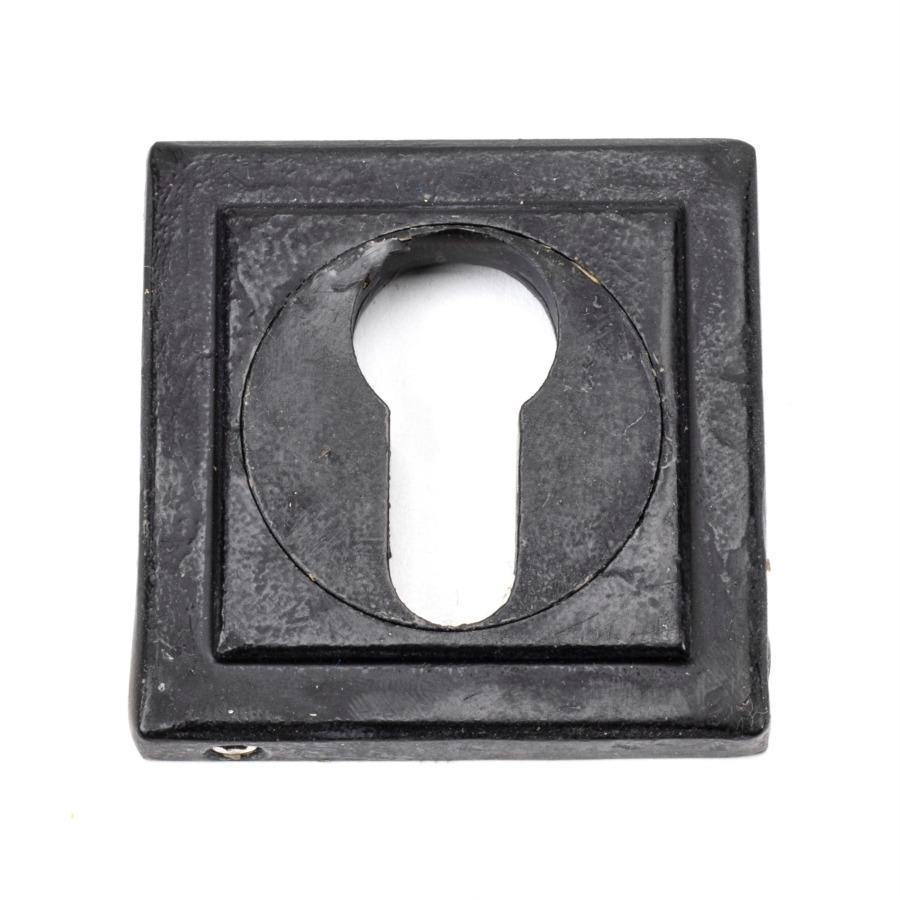 From the Anvil External Beeswax Round Euro Escutcheon (Square) - No.42 Interiors