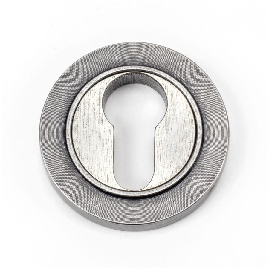 From the Anvil Pewter Round Euro Escutcheon (Plain) - No.42 Interiors