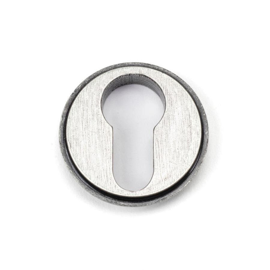 From the Anvil Pewter Round Euro Escutcheon (Art Deco) - No.42 Interiors