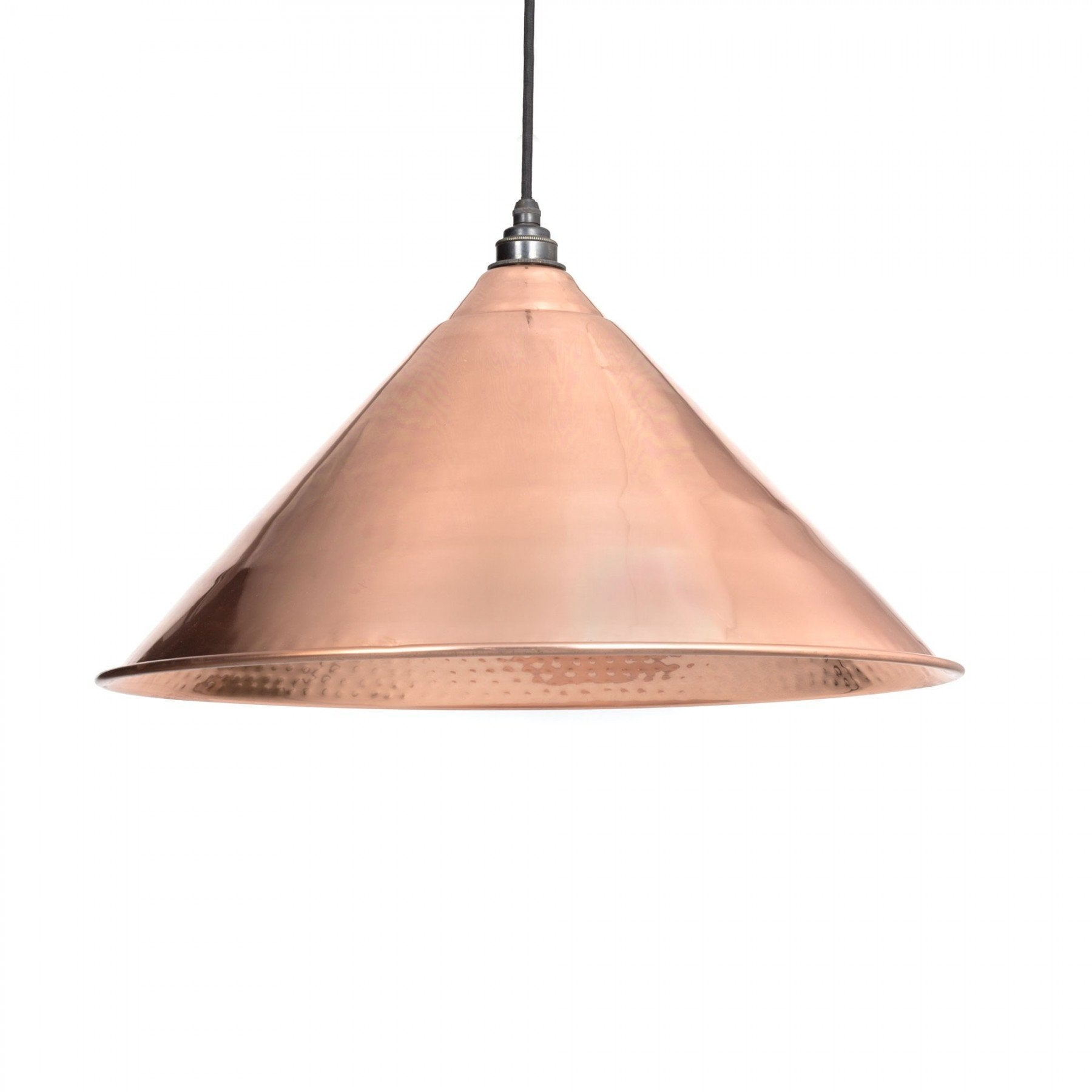 From the Anvil Hammered Copper Interior Hockley Pendant
