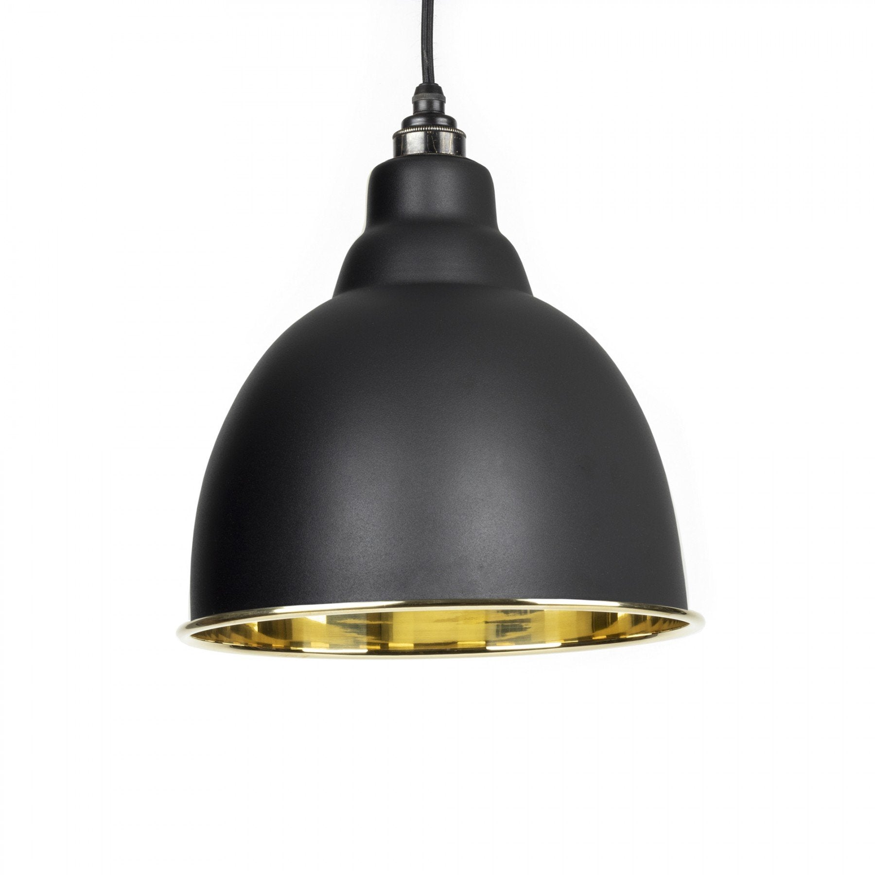 From The Anvil Black & Smooth Brass Interior Brindley Pendant - No.42 Interiors