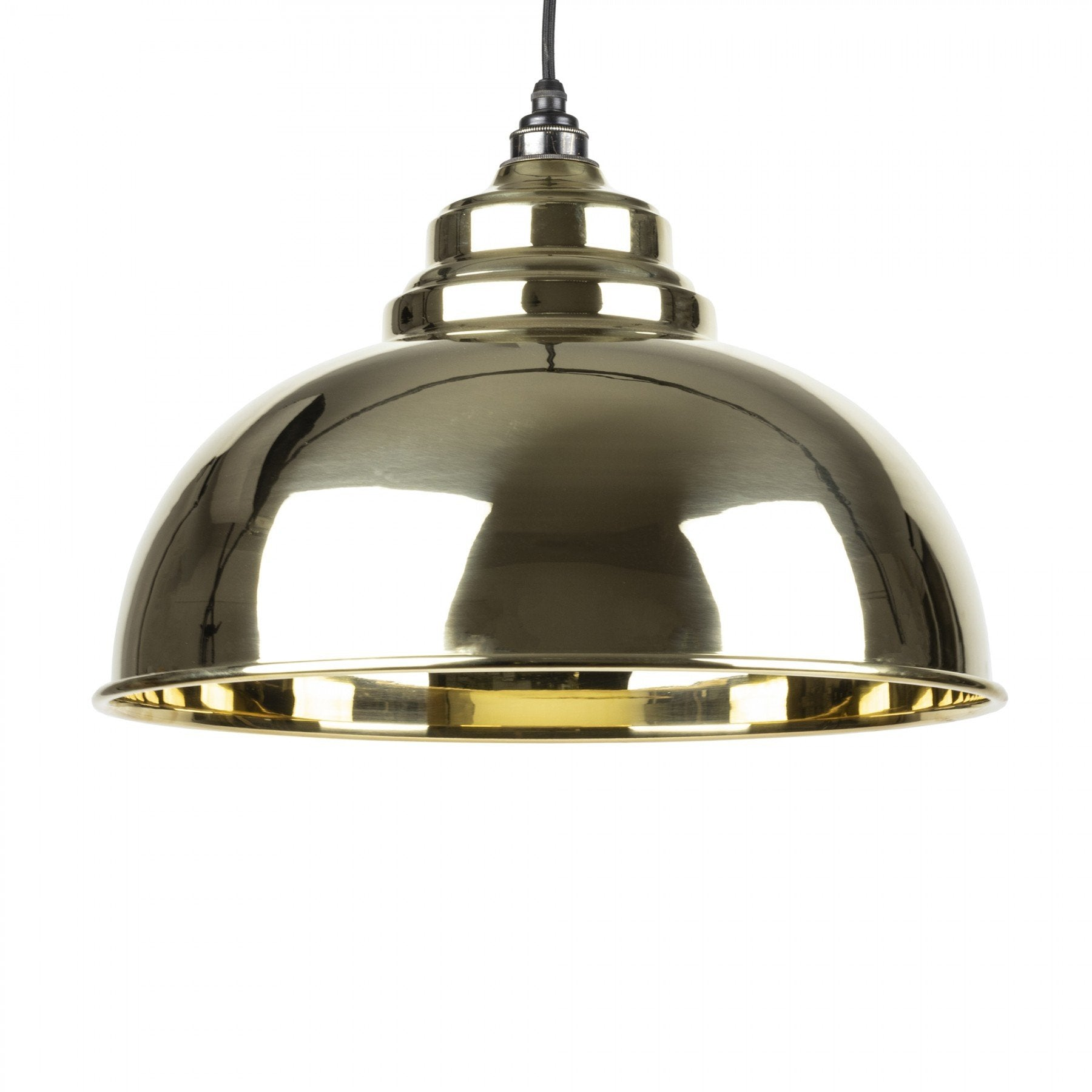 From The Anvil Smooth Brass Interior Harborne Pendant - No.42 Interiors