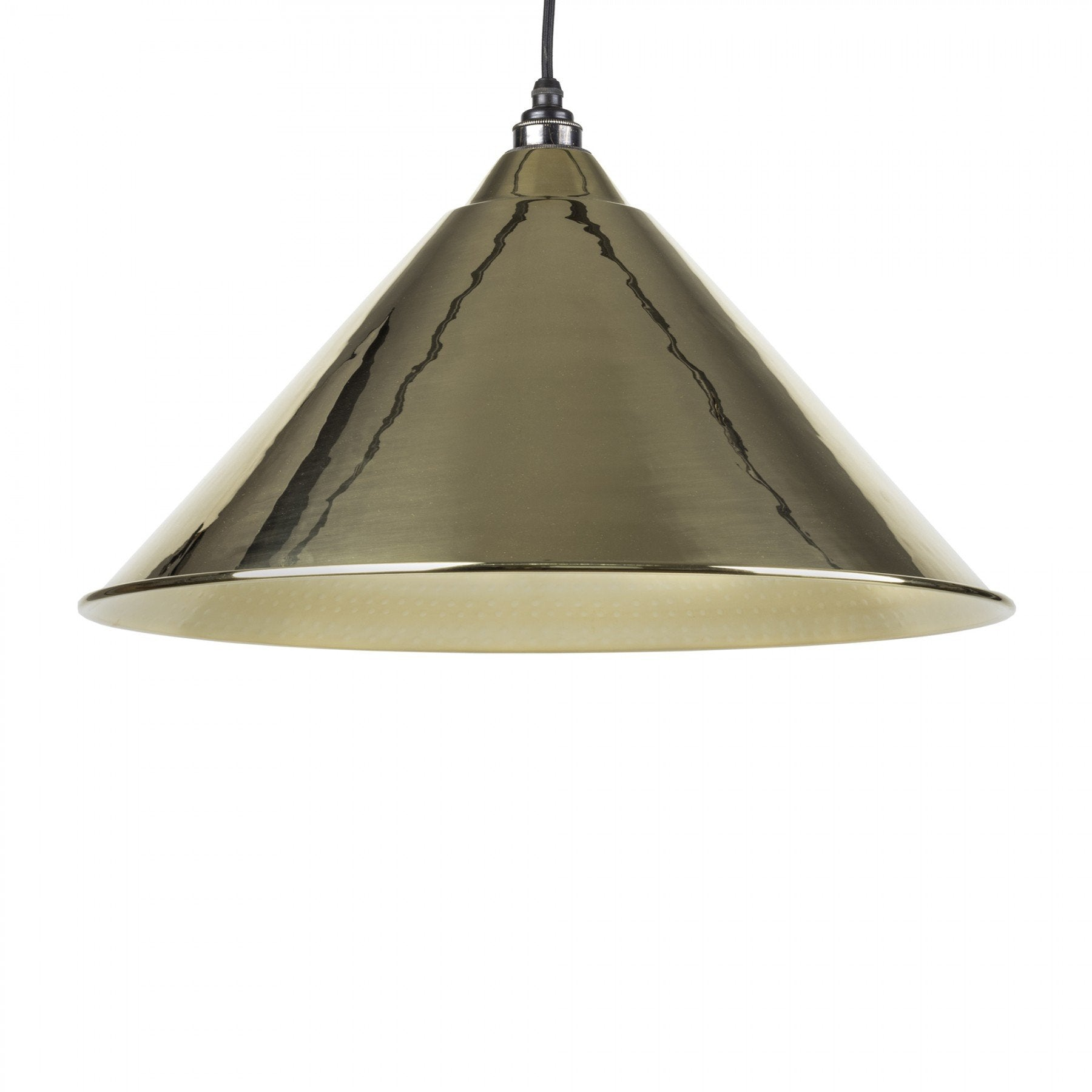 From The Anvil Hammered Brass Interior Hockley Pendant - No.42 Interiors