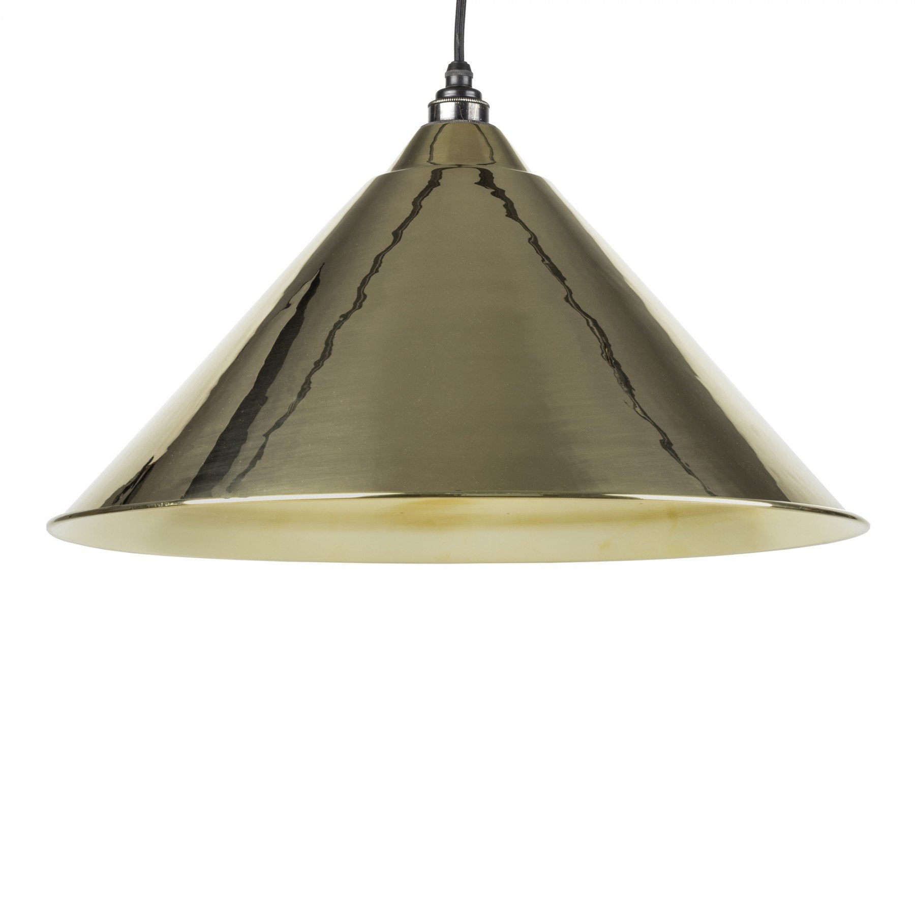 From The Anvil Smooth Brass Interior Hockley Pendant - No.42 Interiors