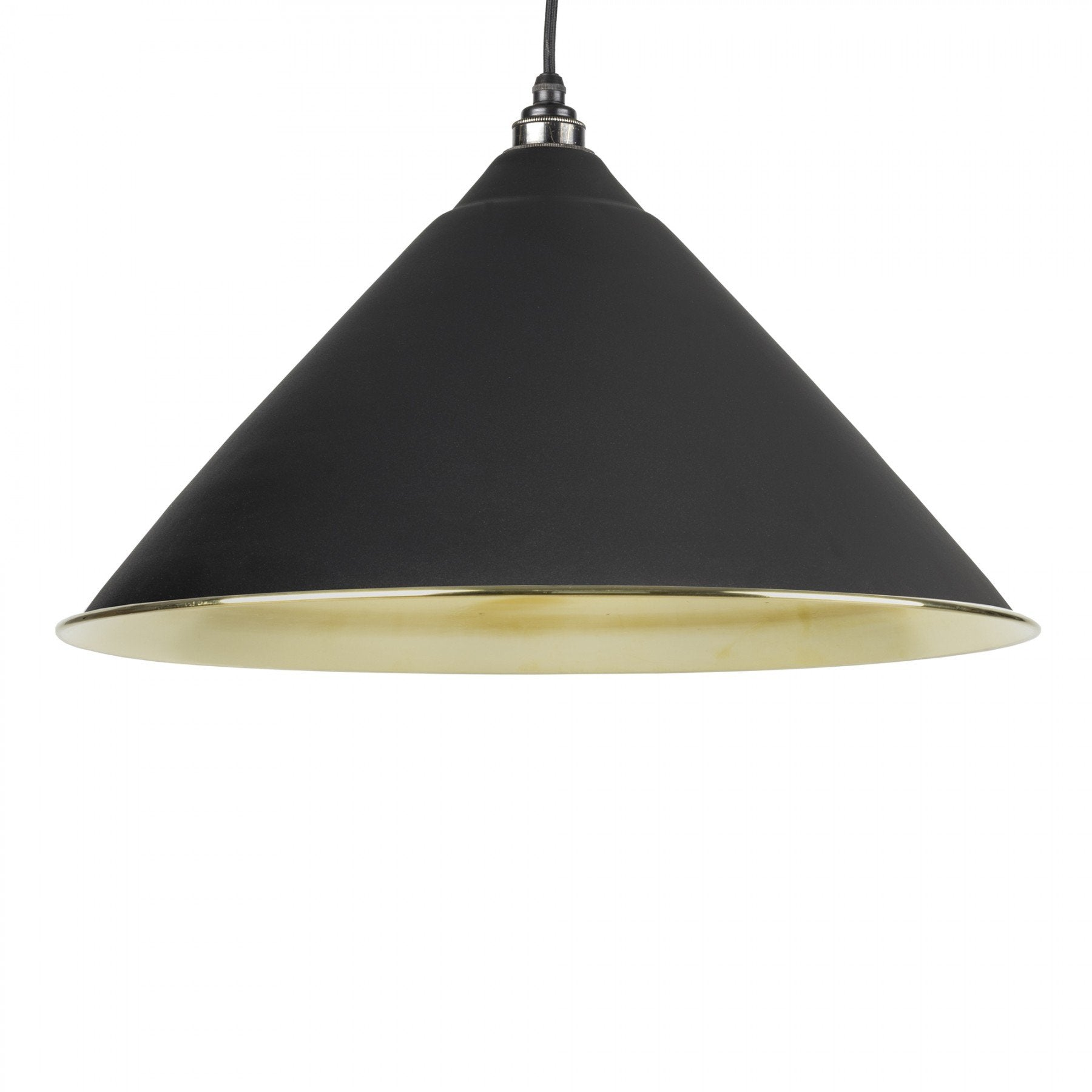 From The Anvil Black & Smooth Brass Interior Hockley Pendant - No.42 Interiors