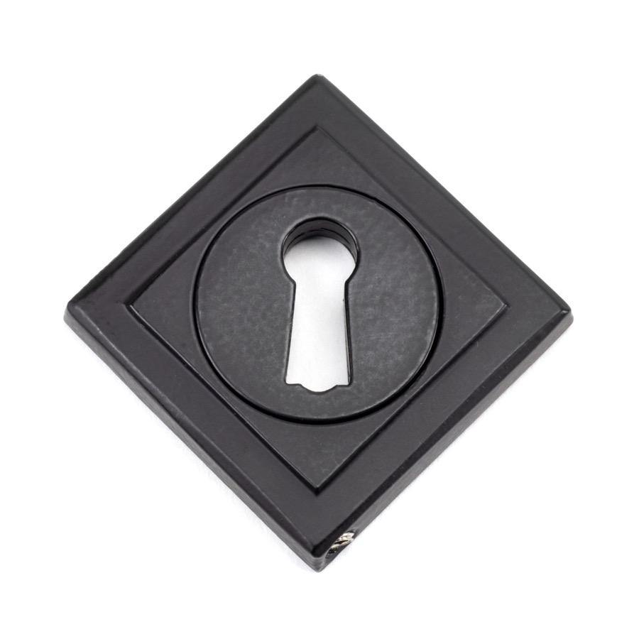 From the Anvil Matt Black Round Escutcheon (Square) - No.42 Interiors