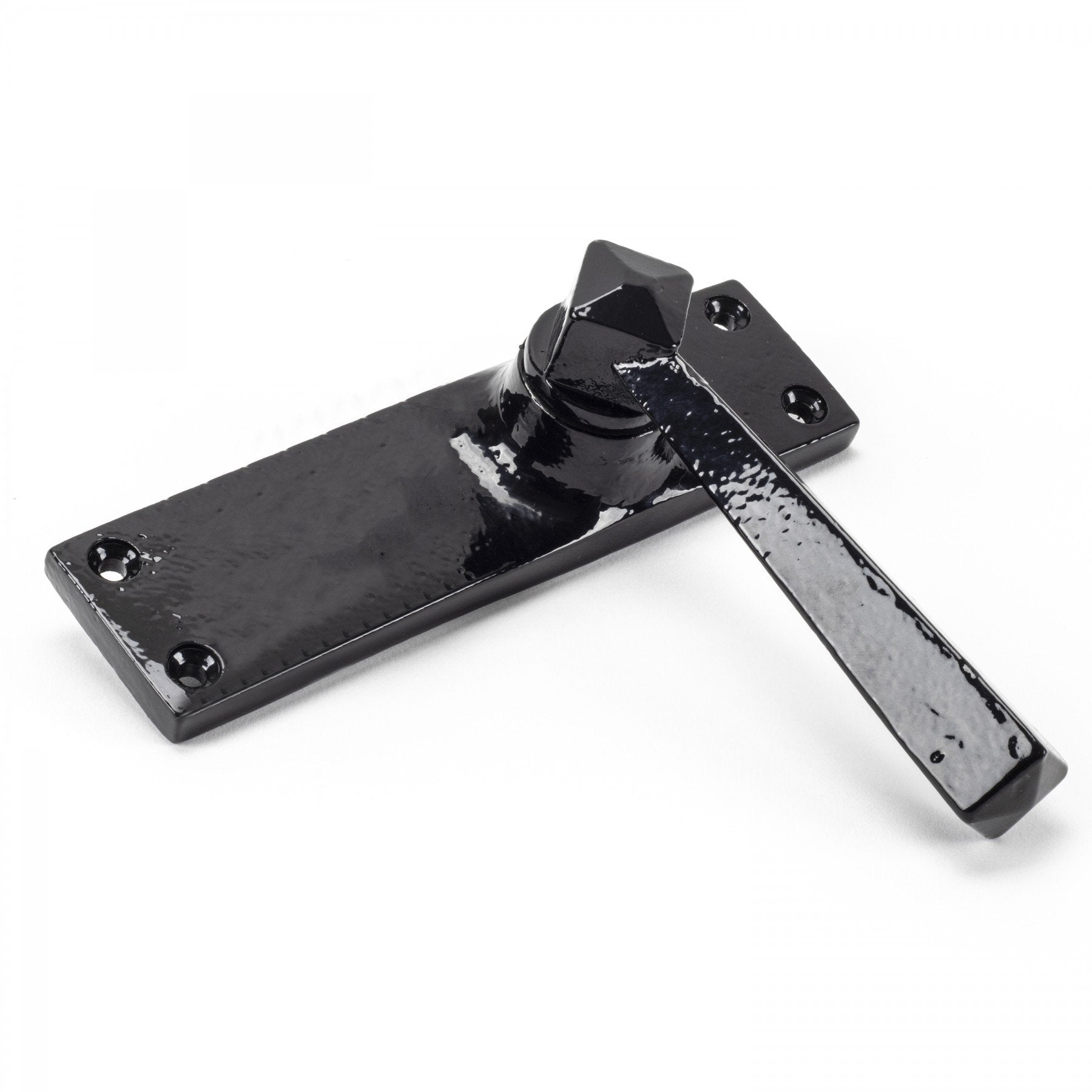 From the Anvil Black Straight Lever Latch Set
