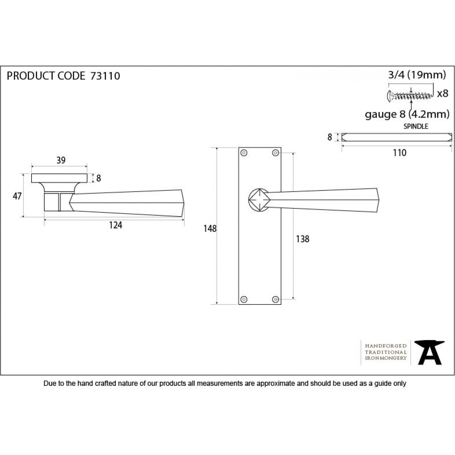 Black Straight Lever Latch Set - No.42 Interiors