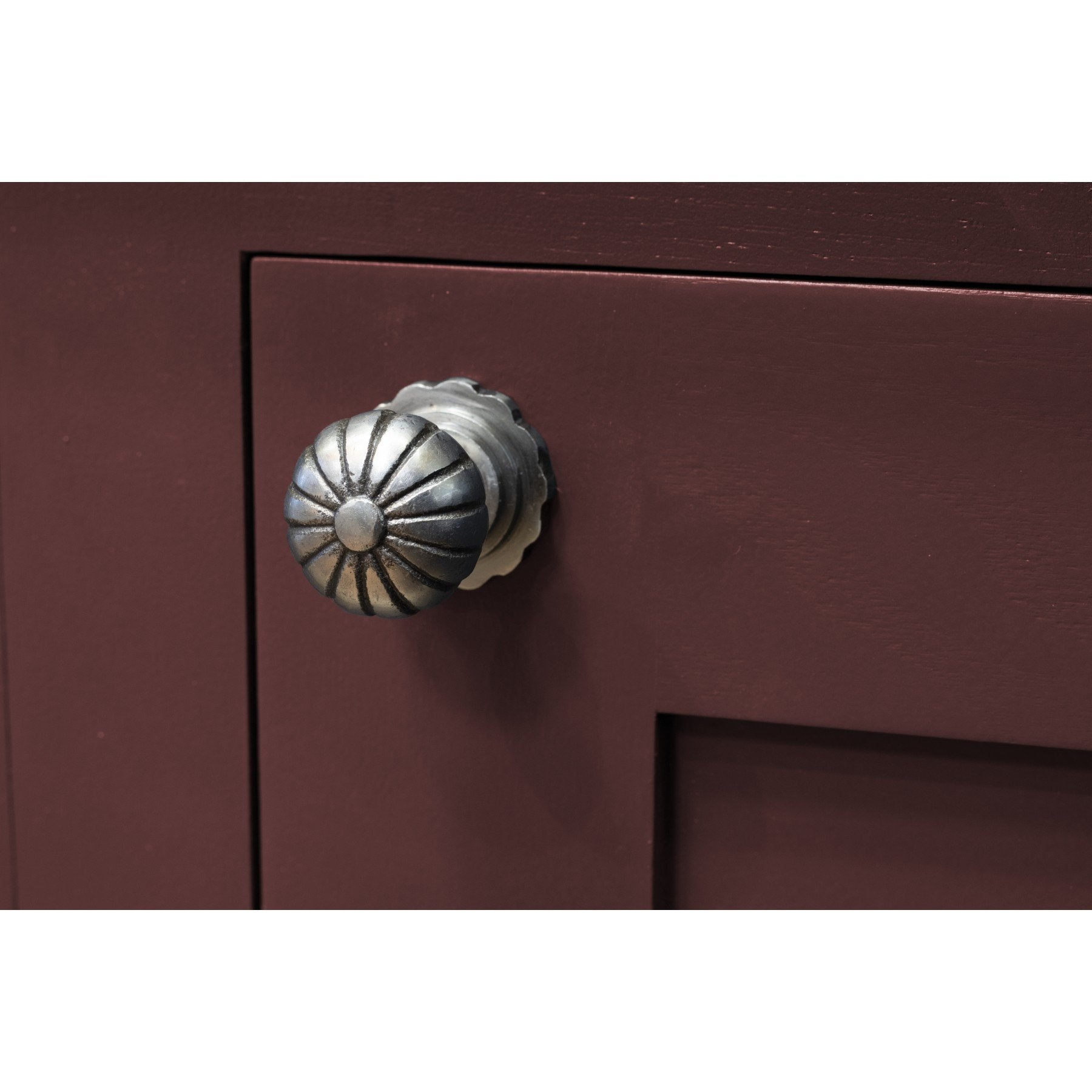From the Anvil Natural Smooth Cabinet Knob (with base) - Small