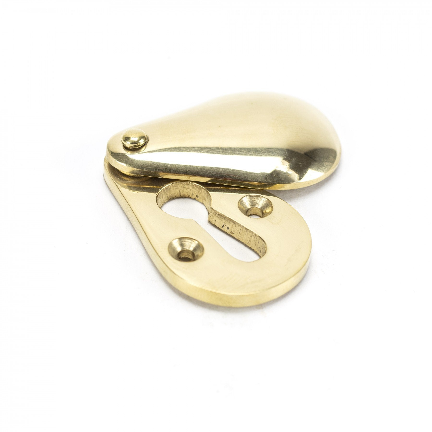 Polished Brass Plain Escutcheon - No.42 Interiors