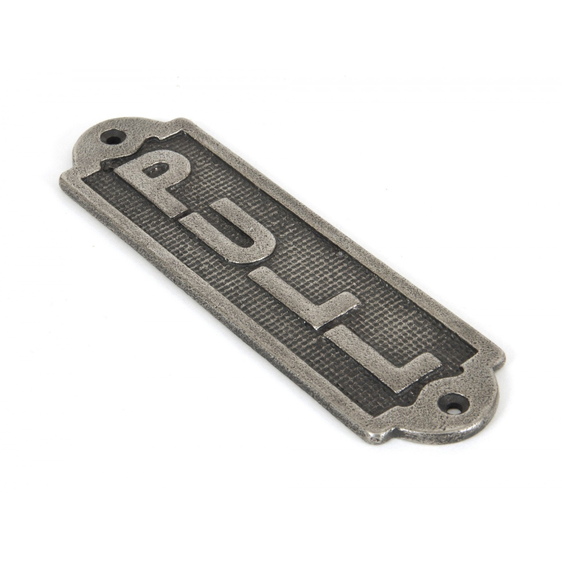 Pull Sign - Antique Pewter - No.42 Interiors