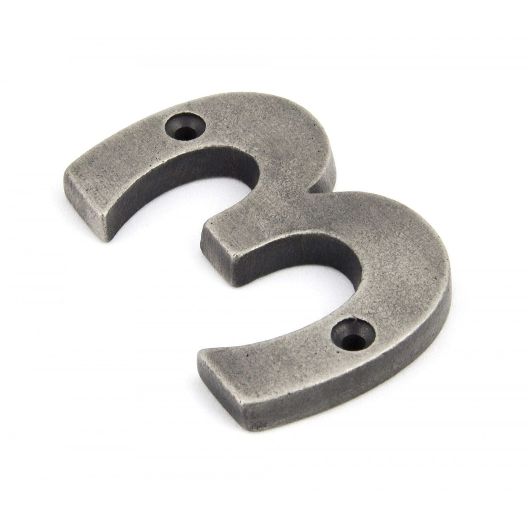 From the Anvil Antique Pewter Numeral 3