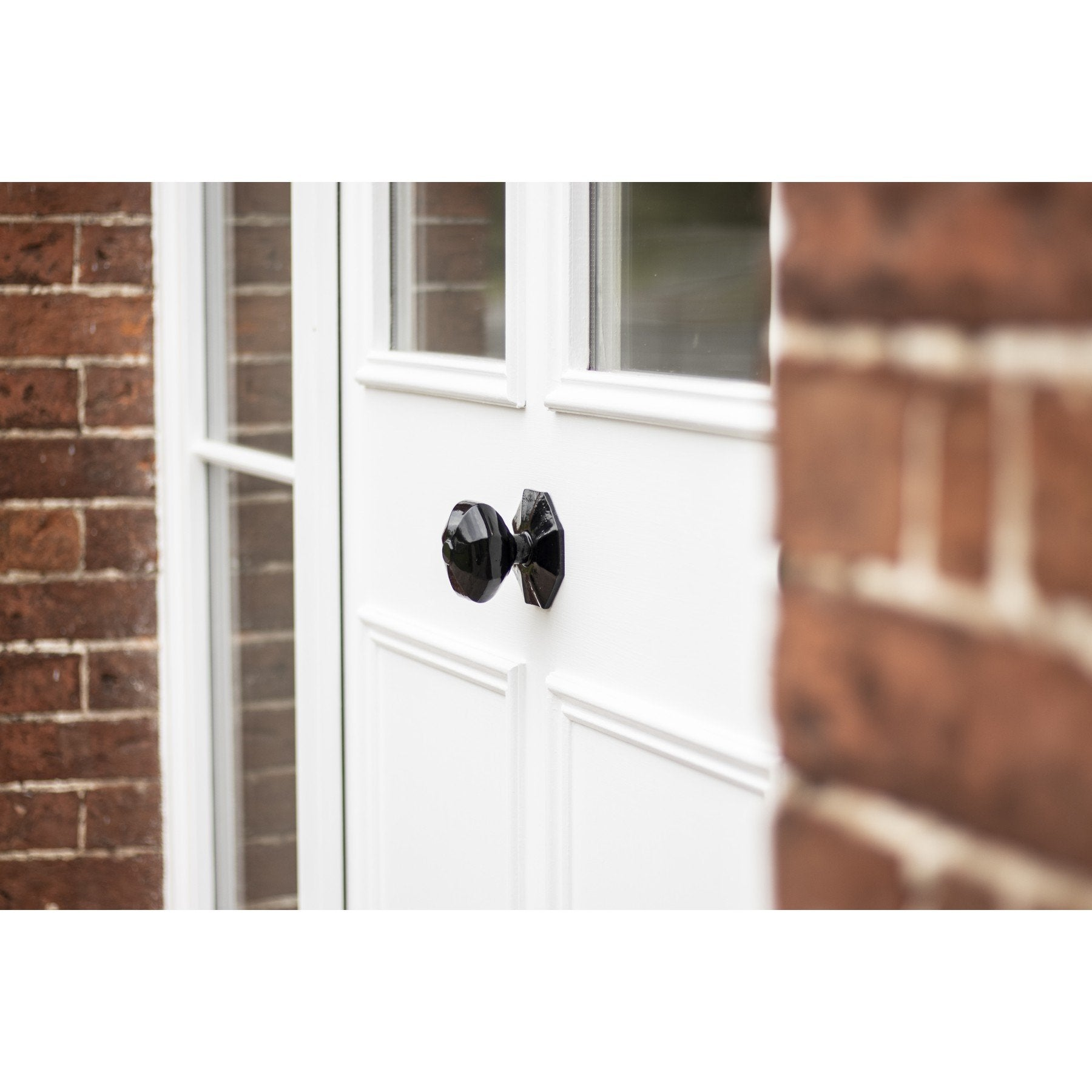 Octagonal Centre Door Knob - Black - No.42 Interiors