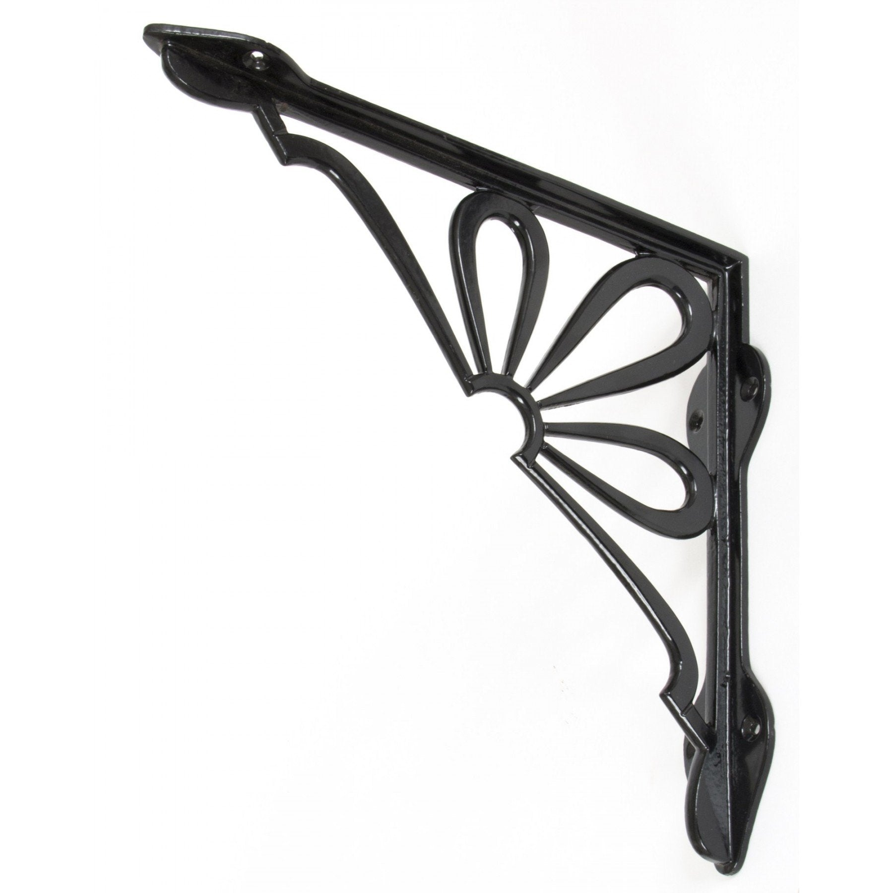 "Black 9"" x 9"" Flower Shelf Bracket - No.42 Interiors"