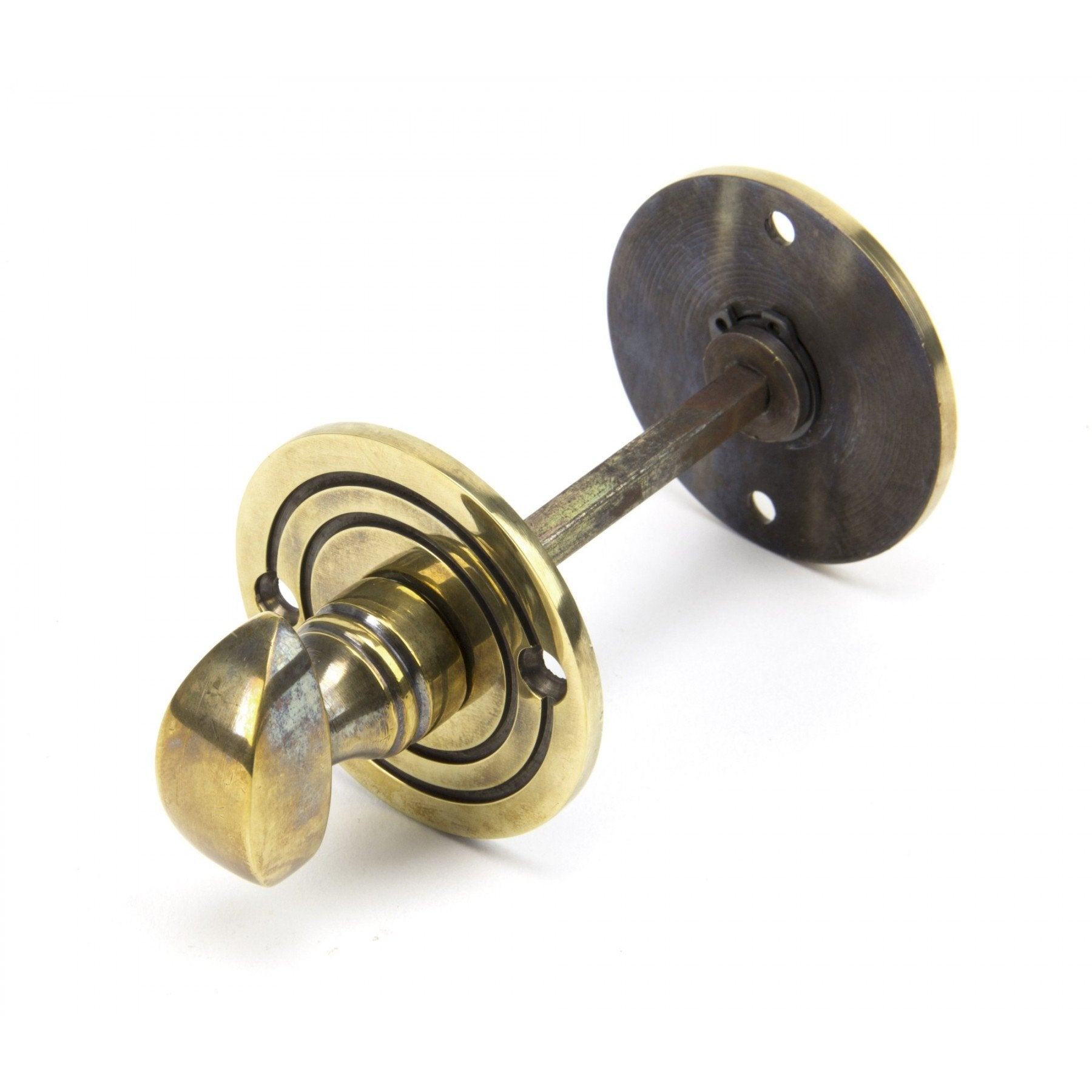 From the Anvil Aged Brass Round Bathroom Thumbturn