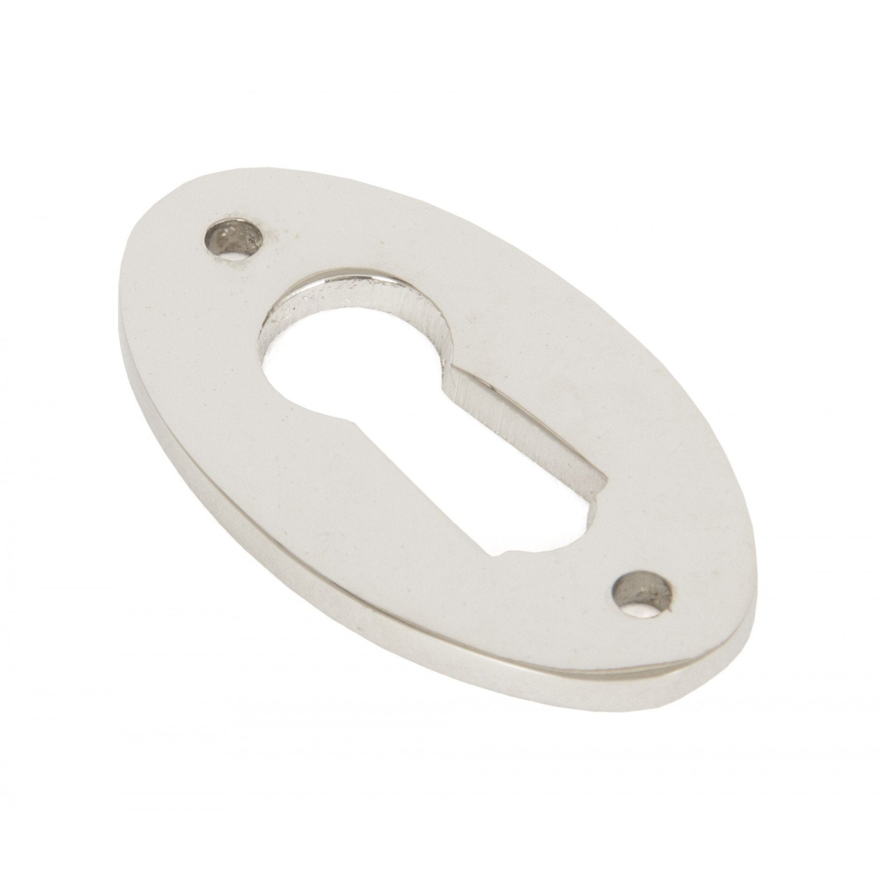 Polished Nickel Oval Escutcheon - No.42 Interiors