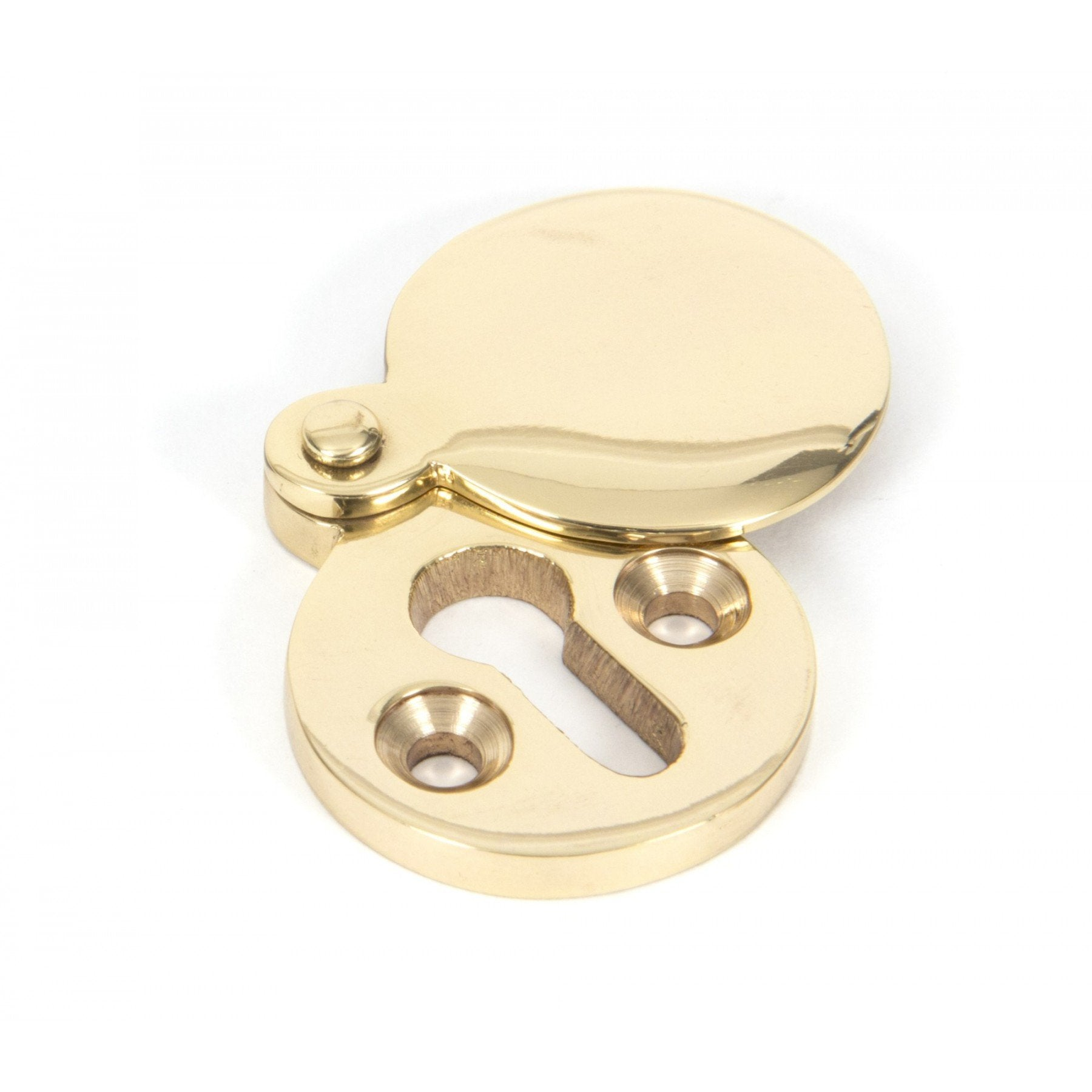 Polished Brass Round Escutcheon - No.42 Interiors