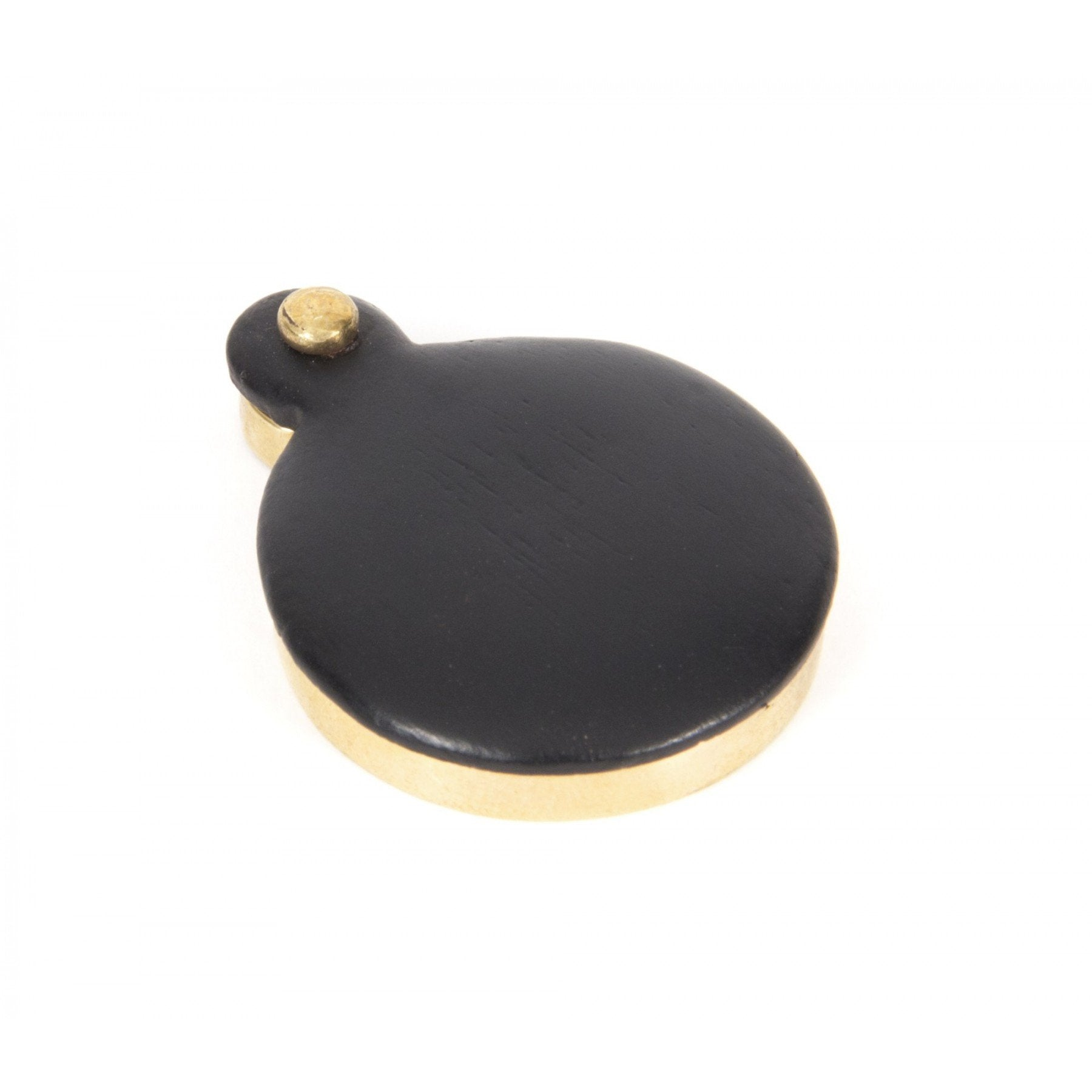 Ebony Round Escutcheon