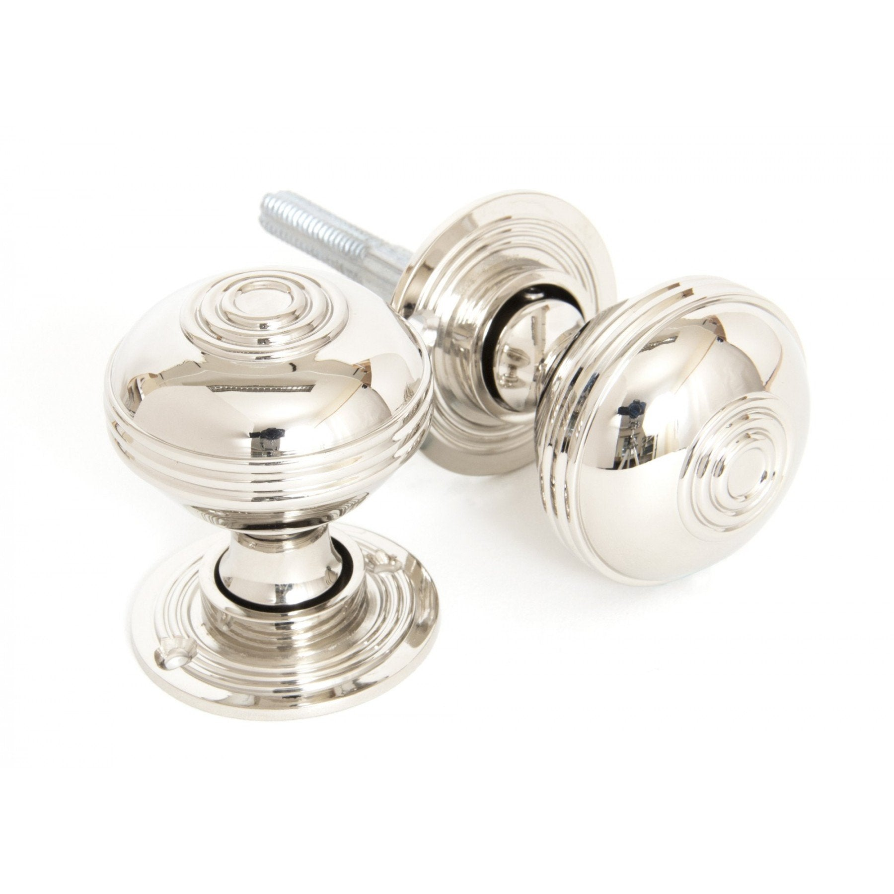 From the Anvil Polished Nickel Prestbury Mortice/Rim Knob Set - 50mm